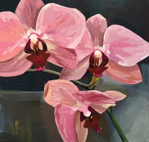 orchid painting