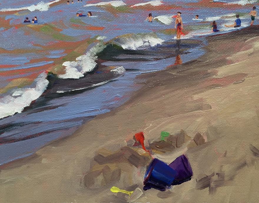4th painting - Beach