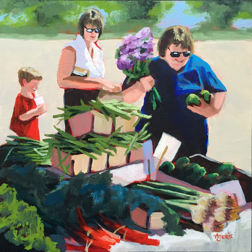 acrylic painting Farmers Market
