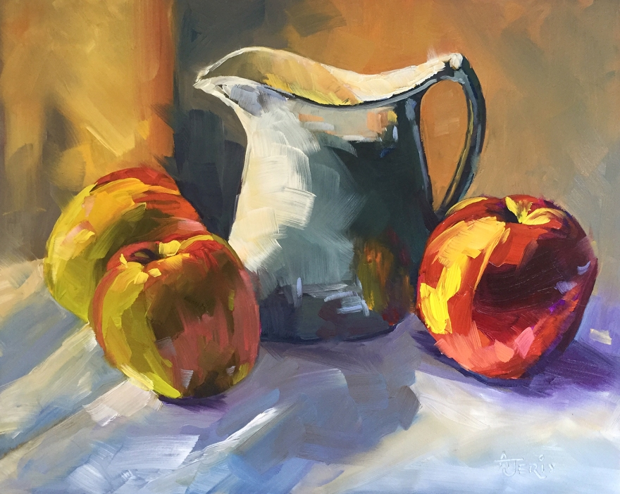 Apples and White Pitcher