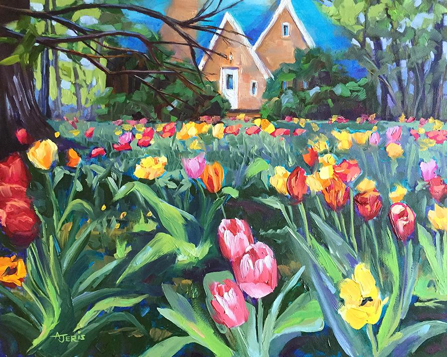 Yard of Tulips