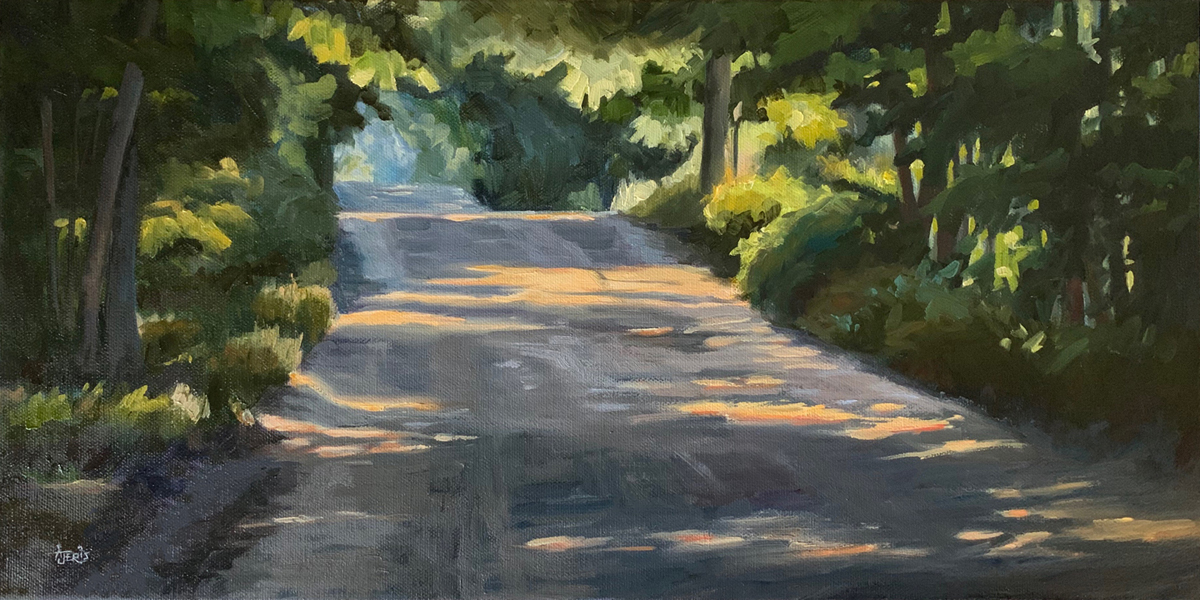 "On the Road Again, 10x20"" oil painting"